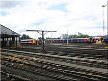 TQ2775 : Carriage sidings, Clapham Junction by Roger Cornfoot
