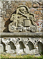 NJ2263 : Carving in Elgin Cathedral by Anne Burgess