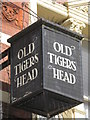 TQ3975 : Sign for The Old Tigers Head, Lee High Road, Lee Green, SE12 by Mike Quinn