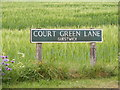 TG0525 : Court Green Lane sign by Adrian Cable