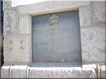 NJ9505 : Aberdeen Harbour Board plaque by Stanley Howe