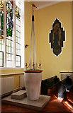 TQ3385 : St Paul's Church, Stoke Newington Road - Font by John Salmon