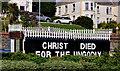 J5081 : Religious message, Bangor by Albert Bridge