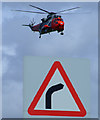 NS3427 : Rescue helicopter at Prestwick Airport by Thomas Nugent