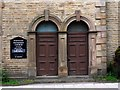 NY9038 : Doorways, Primitive Methodist Chapel, Westgate by Andrew Curtis