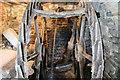 SO3659 : Staunton Mill - waterwheel by Chris Allen
