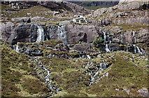 NG8145 : Streams cascading from Coire na Poite by Jim Barton