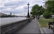 TQ3078 : London : Lambeth - Albert Embankment by Lewis Clarke