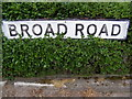 TM3055 : Broad Road sign by Adrian Cable