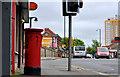 J3273 : Pillar box, Belfast by Albert Bridge