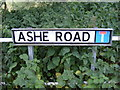 TM3056 : Ashe Road sign by Adrian Cable