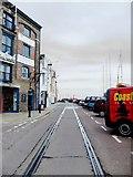SY6878 : Custom House Quay, Weymouth - with railway track by Stefan Czapski