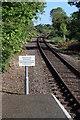 TG1001 : Warning sign Wymondham Abbey Station by Glen Denny