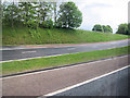 NY4933 : Southbound slip road junction 41 M6 by John Firth