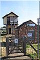 TG3018 : Preserved signal box near Hoveton and Wroxham station by Glen Denny