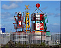 J3476 : Buoys, Belfast by Rossographer