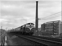 J2664 : Train passing Stewart's Mill by The Carlisle Kid