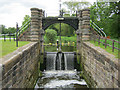 SJ6470 : Vale Royal Lock Bypass Weir by Mike Todd