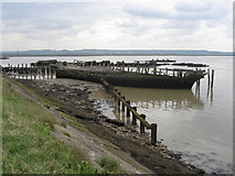 """TQ7076 : Wreck of the """"Hans Egede"""", near Cliffe Fort by Ian Cunliffe"""