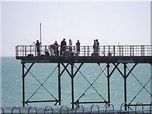 SZ9398 : Fishermen, Bognor Regis pier by nick macneill