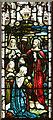 TQ3063 : St Paul, Mollison Drive, Roundshaw Estate - Stained glass window by John Salmon