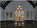 SH7683 : St Tudno's Church; Altar and East Window by David Dixon