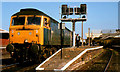 NS4238 : Kilmarnock railway station by Albert Bridge