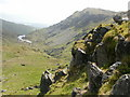 SH6547 : Llyn Cwm-y-Foel and Cnicht by Peter S