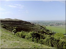 ST8412 : Hambledon Hill: the eastern flanks of the hill fort by Stefan Czapski
