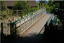 TQ2652 : Footbridge at Reigate Hill, Surrey by Peter Trimming