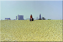 TR0916 : Coming down the beach, Dungeness, 1983 by Robin Webster