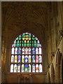ST6316 : West window, Sherborne Abbey by nick macneill