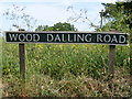 TG0627 : Wood Dalling Road sign by Adrian Cable
