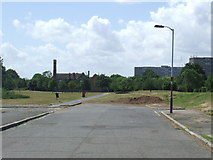 TQ3377 : Road to nowhere, Burgess Park by Malc McDonald