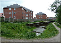 SK4478 : Renishaw, new houses by the old canal by Andrew Hill
