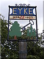 TM3152 : Eyke Village Sign by Geographer