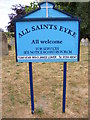 TM3151 : Notice Board of All Saints Church,Eyke by Adrian Cable