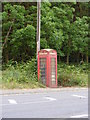 TM3050 : Telephone Box on the A1152 Orford Road by Adrian Cable