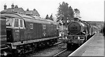 ST9897 : Kemble Station, with Diesel contrasting with Steam by Ben Brooksbank