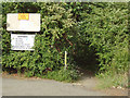 TM1033 : Stour Valley Walk; entrance from Factory Lane, Brantham Industrial Estate by Roger Jones