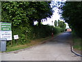 TM2863 : Entrance to Framlingham Sports Club by Adrian Cable