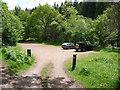 SO2625 : Pont Cadwgan car park in the Grwyne Fawr valley by Jeremy Bolwell