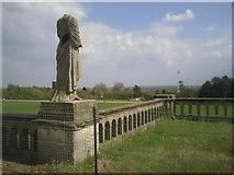 TQ3370 : A headless statue 'surveys' Crystal Palace Park by Marathon
