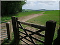 SU9415 : Entrance to Littleton Down by Tim Heaton