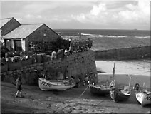 SW3526 : The Harbour at Sennen Cove, Cornwall by Colin Manton