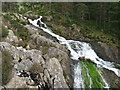 SH6460 : Top of the Rhaeadr Ogwen falls by Dave Spicer