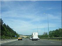TQ2652 : M25 curves towards Ashstead Hill by Christopher Hilton