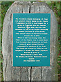 TQ5682 : Foresters Charity Stewards plaque, Belhus by Roger Jones