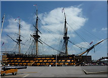 SU6200 : HMS Victory, Portsmouth Dockyard by pam fray