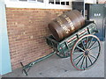 TQ7670 : Shepherd Neame Barrel and Cart by David Anstiss